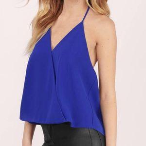 Cobalt Blue Halter Top, Size M
